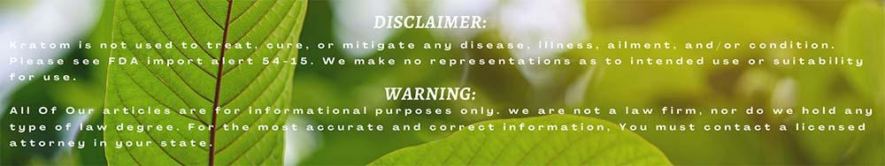 Organic Kratom - Disclaimer-and-Warning